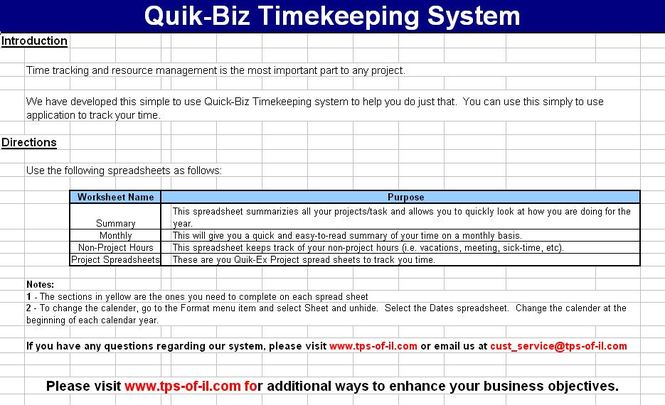 Quik-Biz Timekeeping System Screenshot