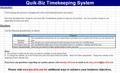 Quik-Biz Timekeeping System 1