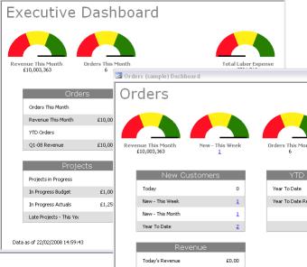 Dashboard Builder for Access Screenshot 1