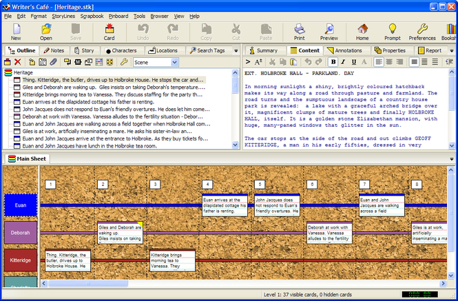 Writer's Cafe Screenshot 1