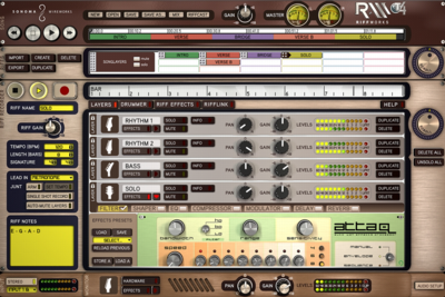 RiffWorks T4 (Windows) Screenshot