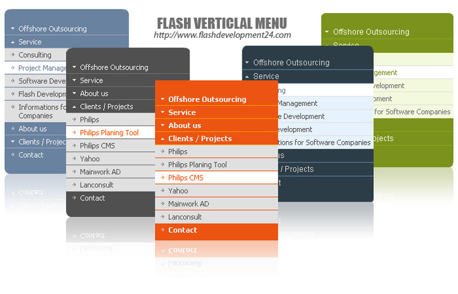 Flash Vertical Menu Screenshot