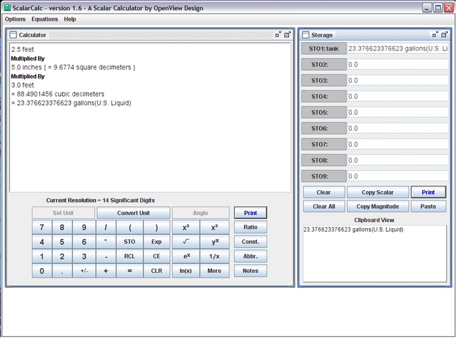 ScalarCalc Screenshot