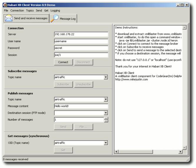 Habari XB Client Screenshot