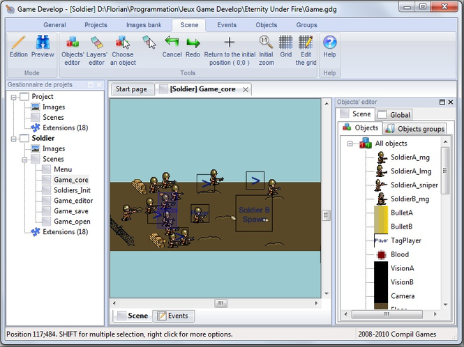 Game Develop Screenshot