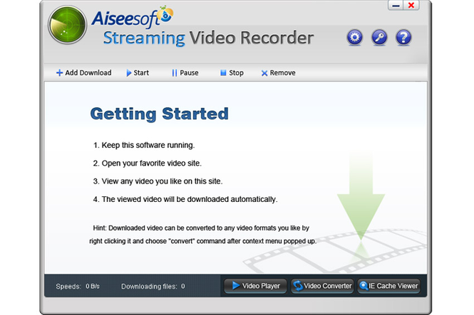 Aiseesoft Streaming Video Recorder Screenshot 1