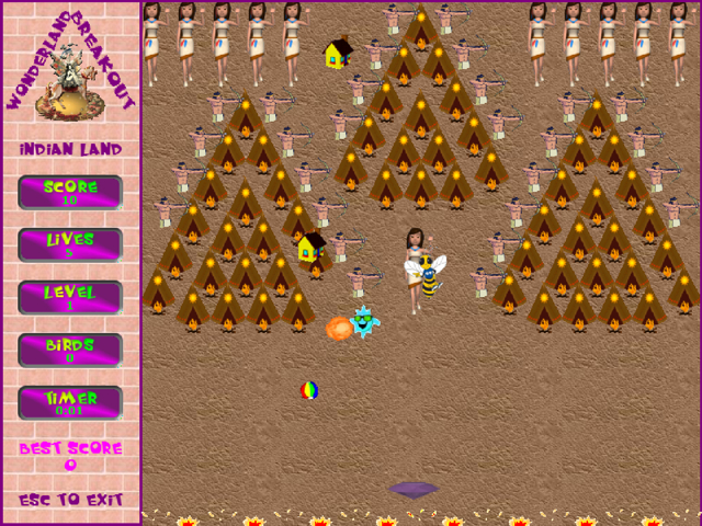 Wonderland Breakout Screenshot