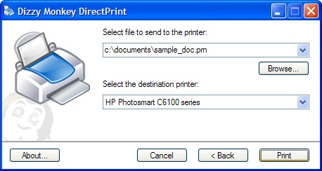 Dizzy Monkey DirectPrint 1.3 Screenshot 1