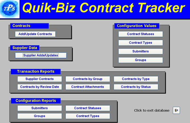 Quik Biz-Contract Management System Screenshot