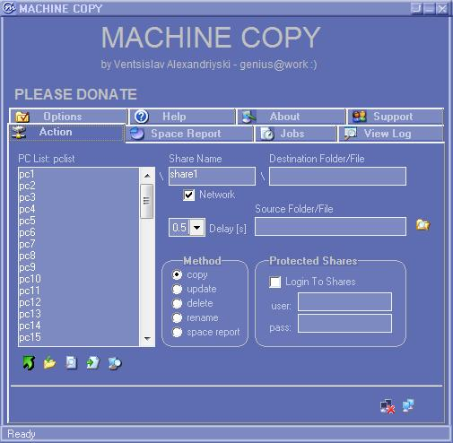 Machine Copy Screenshot