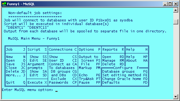 MuSQL Screenshot