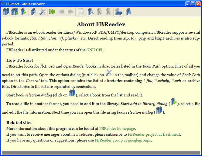 FBReader Screenshot