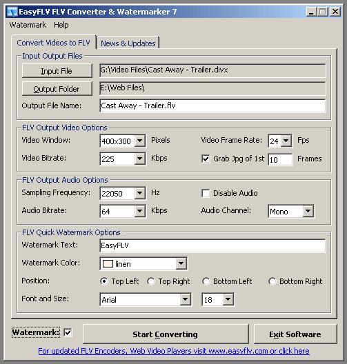EasyFLV FLV Converter Screenshot