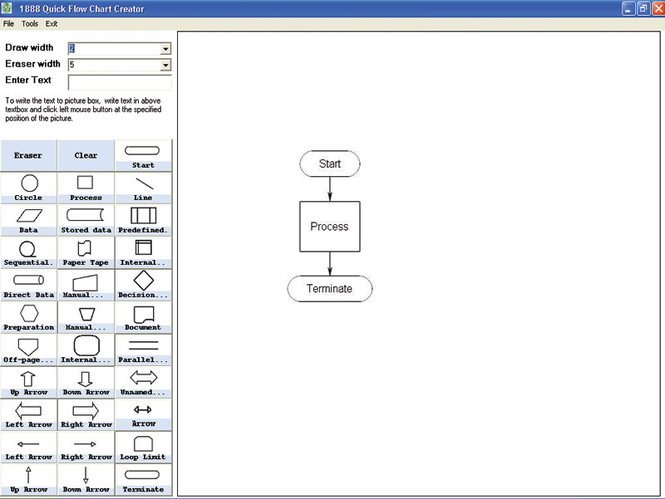 1888 Quick Flow Chart Creator Screenshot