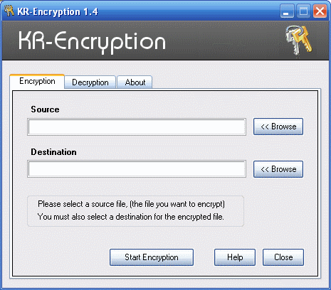 KR-Encryption Screenshot