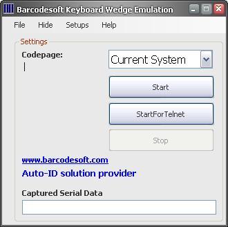 Barcodesoft Keyboard Wedge Emulation Screenshot 1