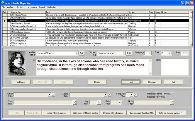 Smart Quote Organizer Screenshot 1