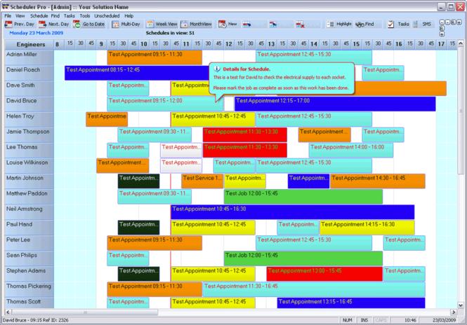 FileMaker Resource Scheduler for Windows Screenshot 1