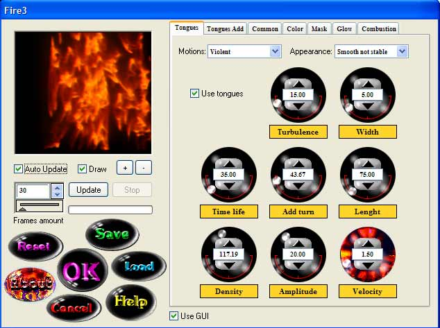 Fire3 for Photoshop Screenshot