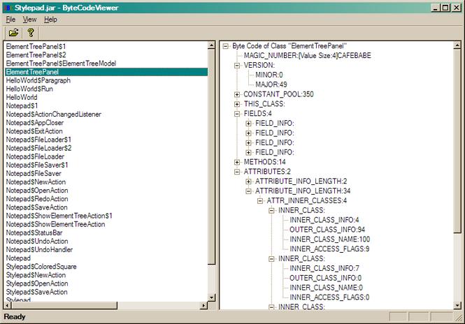 Java ByteCode Viewer Demo Screenshot 1
