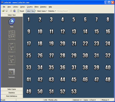 LottoJet Lottery Software Screenshot