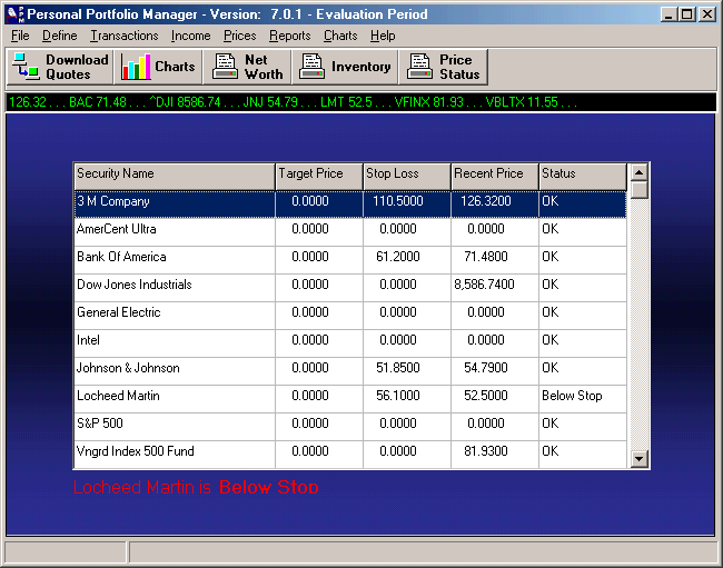 Personal Portfolio Manager Screenshot