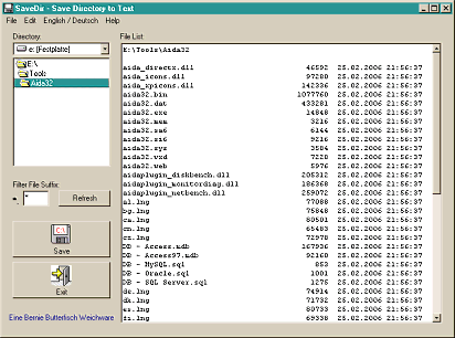SaveDir Screenshot