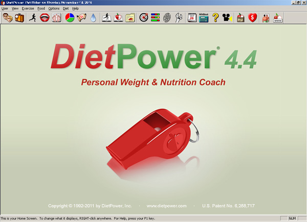 Diet Power Weight & Nutrition Coach Screenshot 1