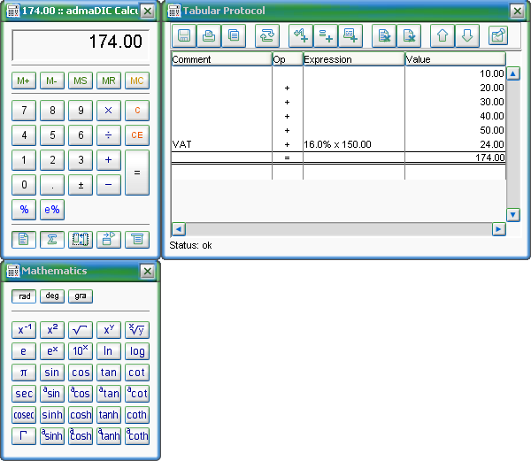 admaDIC Calculator Screenshot 1