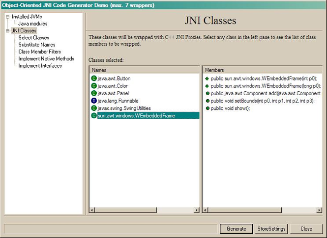 OOJNI Advanced Add-in for VC6 Screenshot