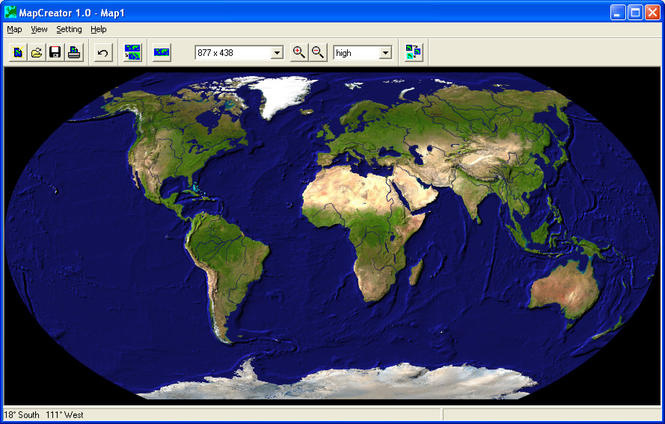 MapCreator Free Edition Screenshot