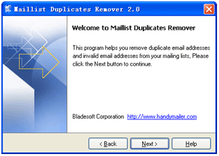 Maillist Duplicates Remover Screenshot