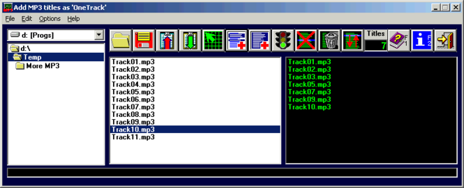 OneTrack Screenshot