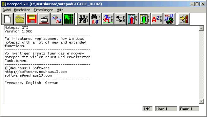 Notepad GTI Screenshot
