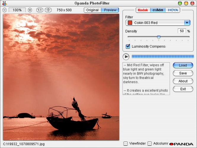 Opanda PhotoFilter Screenshot 1
