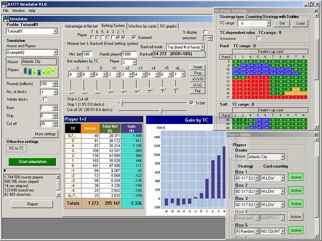 BJ777 Blackjack Simulator Screenshot 1