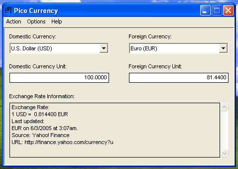 PicoCurrency Screenshot