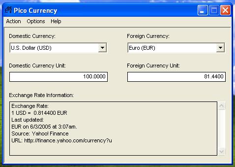 PicoCurrency Screenshot