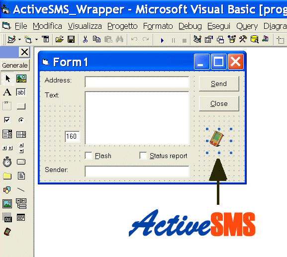 ActiveSMS - SMS ActiveX Screenshot 1
