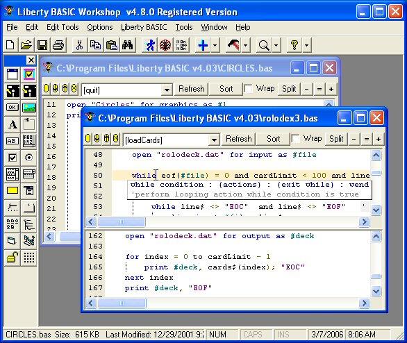 Liberty BASIC Workshop Screenshot