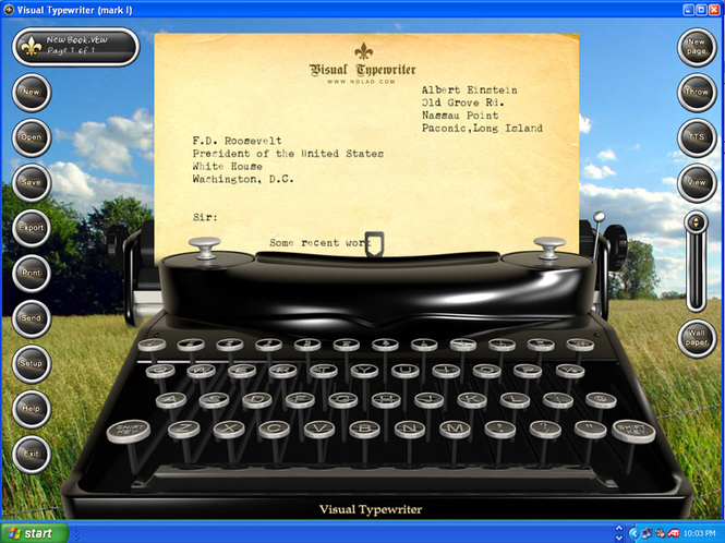 Visual Typewriter Screenshot