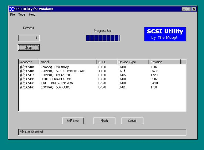 SCSI Utility for Windows Screenshot