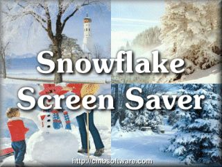 Snowflake Screen Saver Screenshot 1