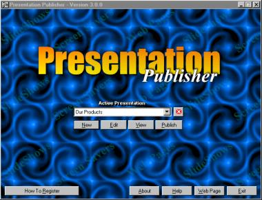Presentation Publisher Screenshot