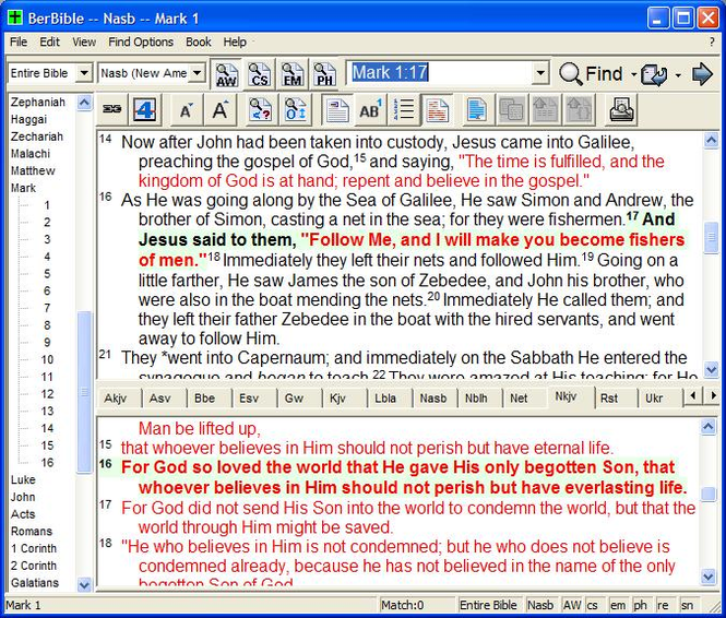 Berean Bible Screenshot 1