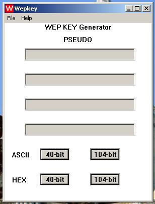 WEP Key Generator Screenshot 1