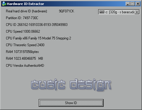 Hardware ID Extractor Screenshot