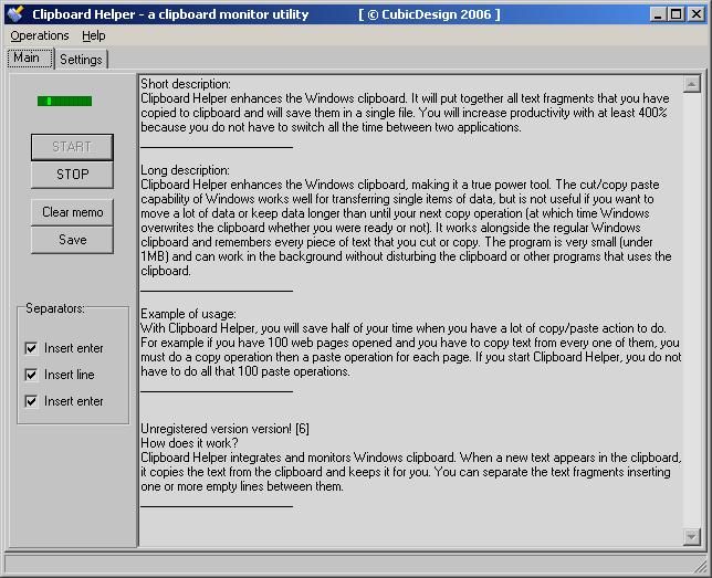 Windows Clipboard Helper Screenshot 1