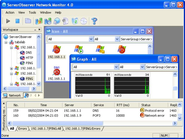 ServerObserver Network Monitor Screenshot 1
