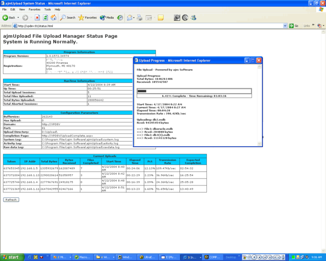 ajmUpload Screenshot 1